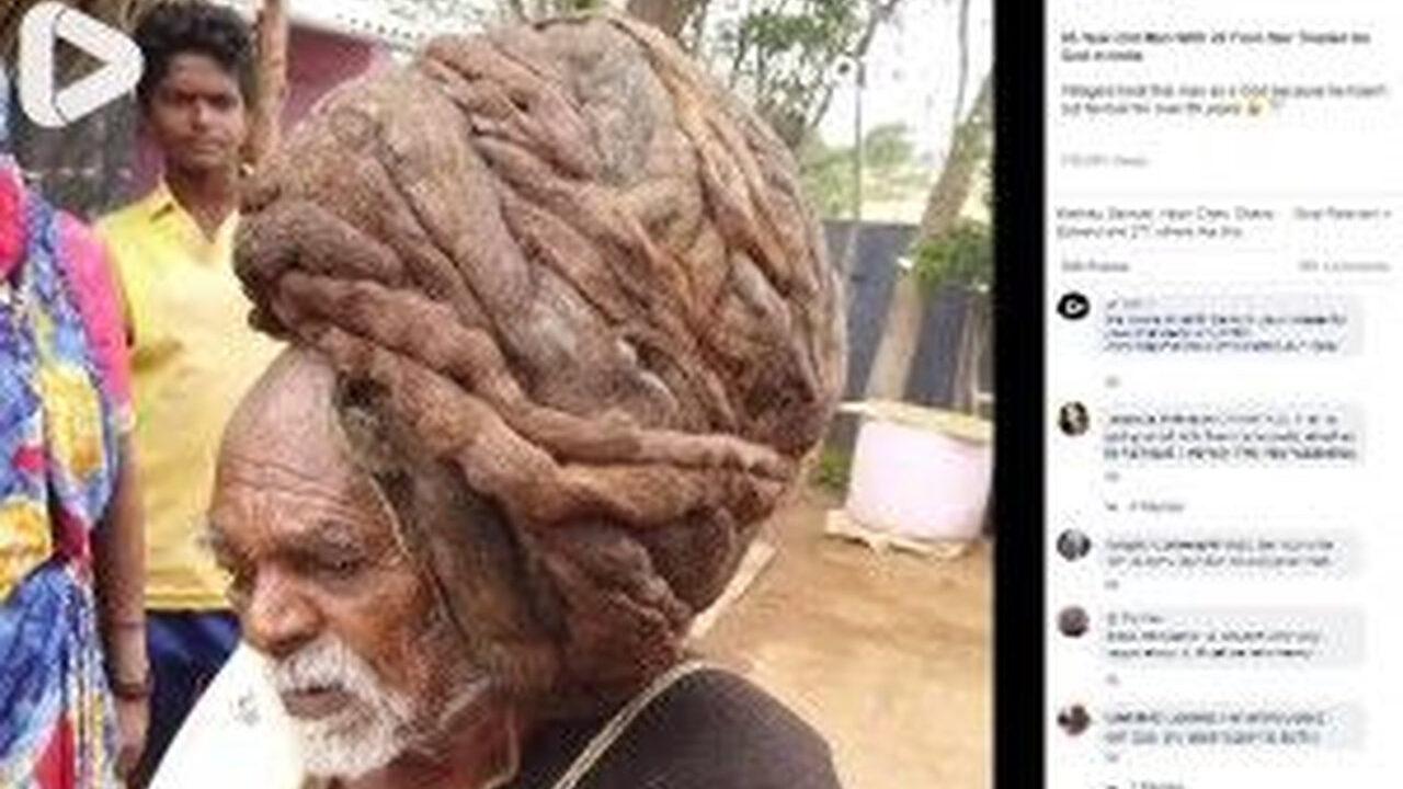 95年間髪を切ったことがない男さん、神と崇められる