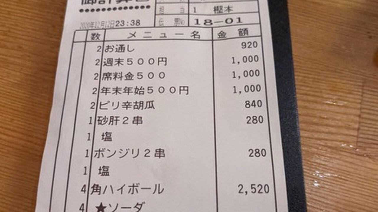 客「生ビールひとつ!」居酒屋「ほいよ、もう年末年始だから3000円ね!」