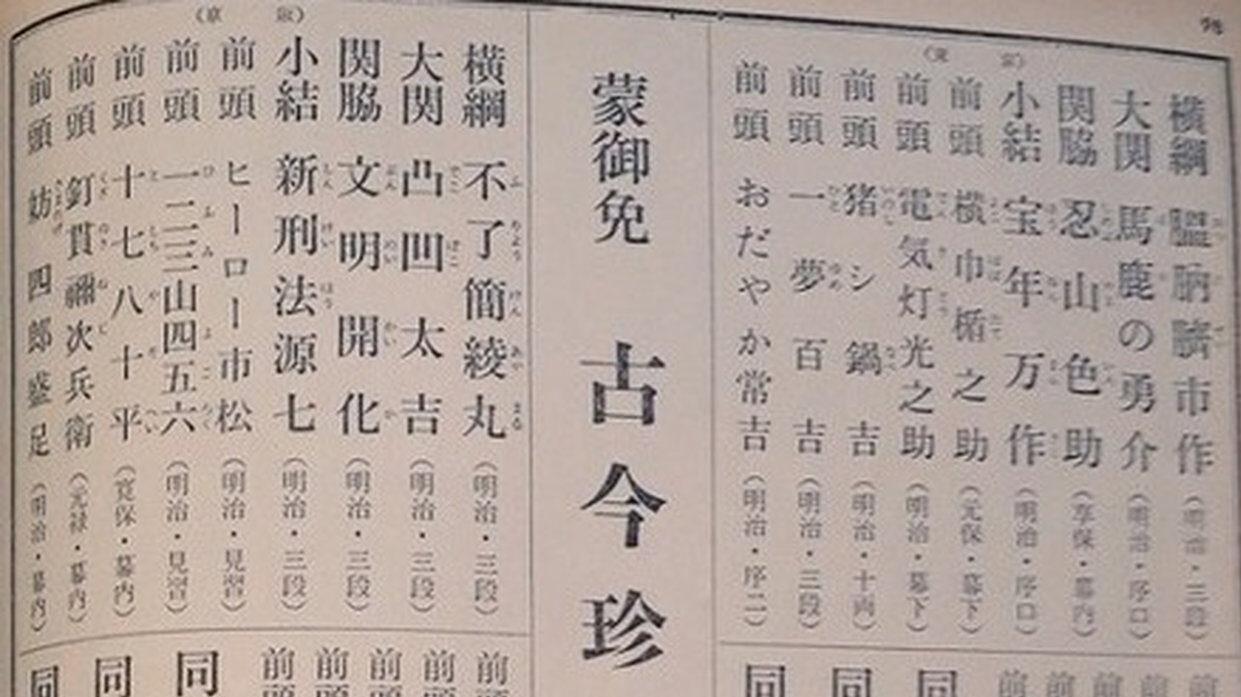 【相撲】明治時代の四股名ふざけすぎwww