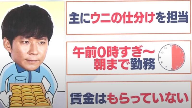 【悲報】アンジャッシュ渡部さん、豊洲市場で働くも無報酬