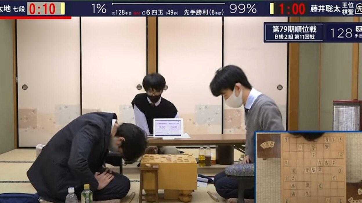 藤井聡太、中村太地に勝利! 全勝でB1に昇級