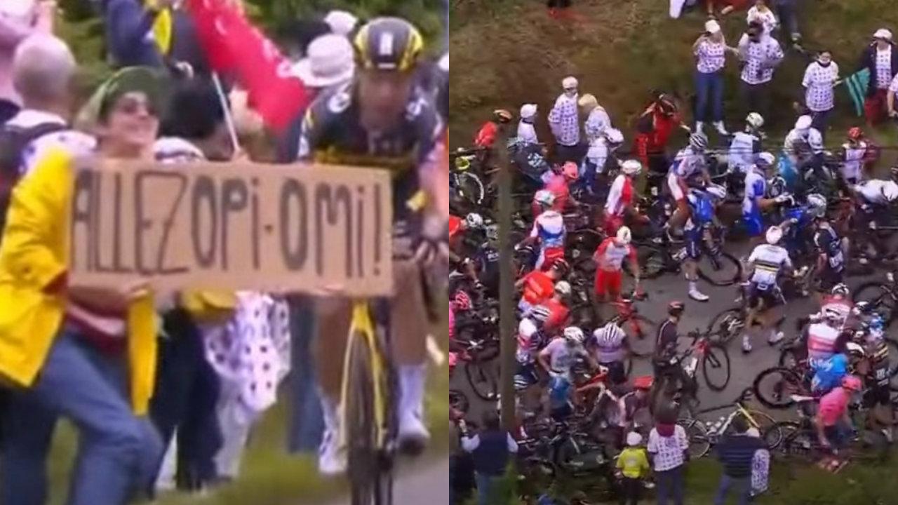 【朗報】ツール・ド・フランスでクラッシュ事故を引き起こした女性観客、発見され逮捕される