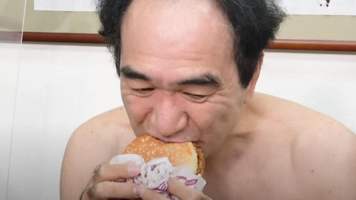 【悲報】江頭2:50さんが初めて『てりやきマックバーガー』食べた結果ww