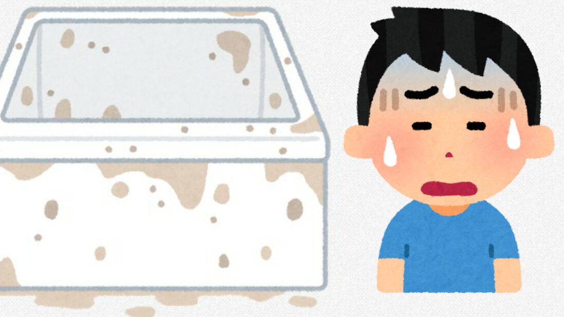 【画像】お風呂がカビがヤバいんだが…