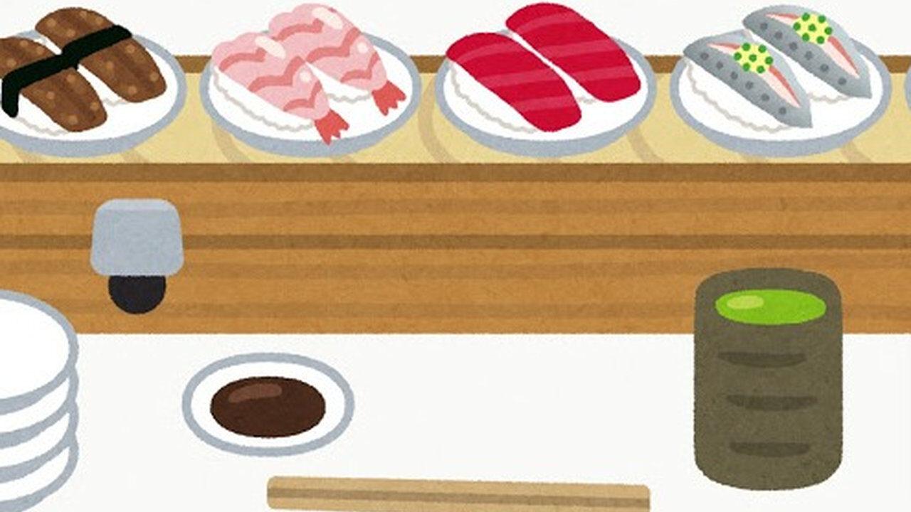 【驚愕】回転寿司で毎回どれぐらい食う? 「ワイは40皿」「50くらいやね」